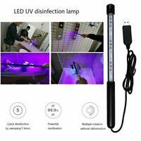 Portable LED UV UVC Disinfection Lamp Germicidal Sterilizer Light Tube Handheld