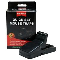 Rentokil Quick Set Mouse Killer Trap, Easy to Set, Easy Mice Disposal, Twin Pack