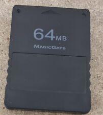 64MB MagicGate Memory Card Sony Playstation 2 VGC