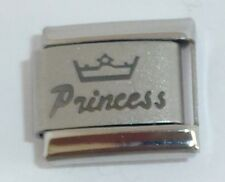 PRINCESS Italian Charm - Tiara Crown I Love my Daughter 9mm Classic Size N254