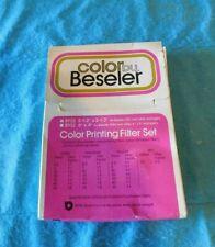 Beseler No. 8932 Color Printing Filter Set 5.5' x 5.5' For 23 C Other Enlager