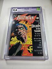 "Batman #428 CGC Purple Label 9.4 NM ""Death in the Family Part 3"" Death of Robin"