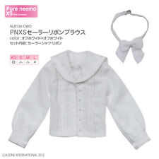 Azone Pureneemo Sailor Ribbon Blouse Blythe White Blythe Pullip Doll DAL Obitsu