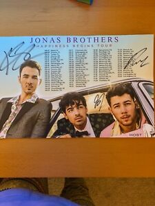 Jonas Brothers Happiness Begins Tour Poster - Hand Autographed