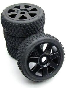 VORZA HP WHEELS & Tires 103677 (17mm) factory glued set 4 Black new HPI 101850