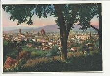 vecchia  cartolina di firenze bel panorama