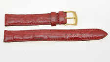 Cinturino red crocodile strap 14mm (14mm at the buckle) new unused