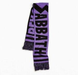NEW BLACK SABBATH PURPLE & BLACK SCARF