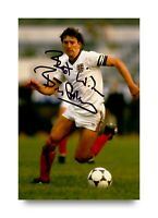 Bryan Robson Signed 6x4 Photo England Manchester United Genuine Autograph + COA