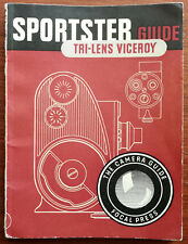 Sportster Guide Tri-Lens Viceroy. The Camera Guide Focal Press Book. 1954 1st ed