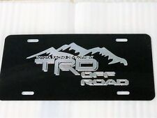 Toyota TRD Mountains Car Tag Diamond Etched on Black Aluminum License Plate