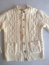 Fishermans Irish Knit Sweater Vintage in Cream Wool by ASTON
