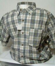 NEW Redhead Bass Pro Shops Men's Plaid Short Sleeve Button Up Shirt Size Medium