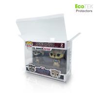 Lot 1 4 30 40 2-Pack UV/Scratch Resistant Funko Pop Vinyl Protector Case