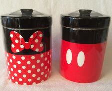 MICKEY MOUSE MINNIE MOUSE SIGNATURE KITCHEN CANISTER SET DISNEY PARKS COOKIE JAR