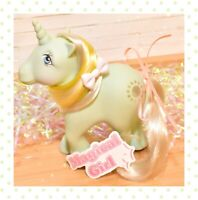 ❤️My Little Pony MLP G1 Vtg SUNBEAM 1983 Unicorn Aqua Silver Yellow Sun Beam❤️