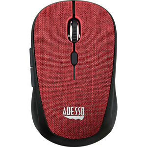 Adesso iMouse S80R Wireless Fabric Optical Mini Mouse (Red)