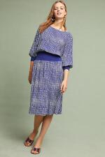 NWT Anthropologie Gemma Ribbed Geometric Dress L $138 Maeve Large Super Cute!