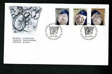 Canada 1995 CHRISTMAS COMBO FDC #1585-7 UNUSED cat $5.00  see scan  BOX 507