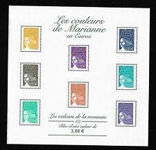 Bloc Feuillet 2002 N°44 Timbres France Neufs - Les Couleurs de Marianne en Euros