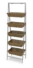 Wicker Basket Rack Floor Standing Bulk Impulse Store Display 5-Tier Fixture NEW