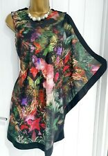 TED BAKER size 2 8 10 multicouloured floral occasion cocktail party dress ref C