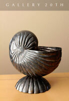 RARE & EXQUISITE NAUTILUS SHELL ART DECO SILVERPLATE SPOON WARMER! VASE CATCHALL