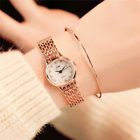 Luxury Fashion Women Watches Stainless Steel Quartz Analog Wrist Watch Bracelet