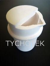 Ceramic quartz SIO2 crucible 100cc for casting microwave kilns one spout and lid