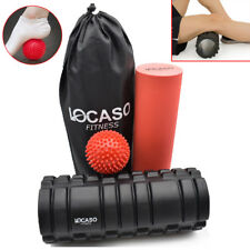 2 in 1 Foam Roller Set Deep Tissue Trigger Point Grid Exercise Massage Physio