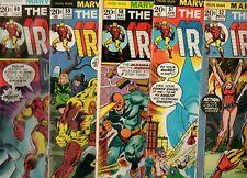 Iron Man #52, 57, 58, 59 & 60 MANDARIN, UNICORN, FIREBRAND! 1972-73 VG/Fn 5.0