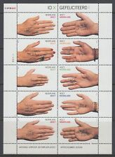 Niederlande 2000 ** Mi.1776/85 Klbg. Grußmarken Hände hands [st2537]