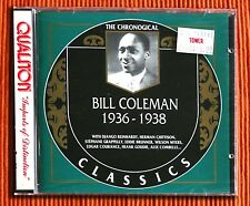 BILL COLEMAN  1936 - 1938  CD The Chronological Classics 764   SEALED