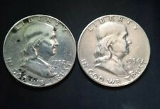 More details for two walking liberty silver half dollars 1954 and 1952