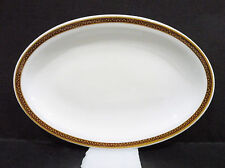 "Bristile / Wembley ware - Platter (9 1/8"")  vgc, maroon band & gold leaves 1971"