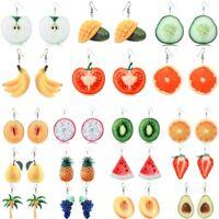 Fashion Orange Watermelon Strawberry Drop Dangle Hook Fruit Earrings Jewellery