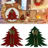 4PC tragbare Home Weihnachtsbaum Geschirr Besteckhalter Aufbewahrungstasche