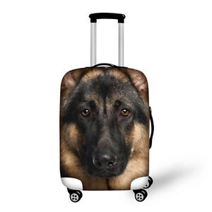 German Shepherd Elastic Luggage Cover Protector Suitcase Cover fit 18-32 inches
