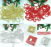 24FT 8M BEAD BALL CHAIN GARLAND CHRISTMAS TREE HANGING DECORATIONS XMAS WEDDING