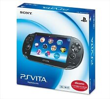 SONY PlayStation Vita 3G / Wi-Fi Model Crystal Black Limited (PCH-1100AB01) NEW