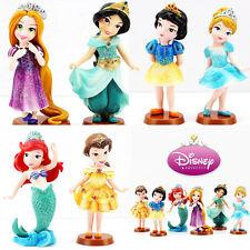 Lots 6pcs Disney Princess Snow White Cinderaller Rapunzel Belle Figure Figurine