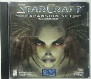 StarCraft Blood War Expansion Set (1998 Blizzard) Excellent