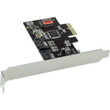 Inline PCI Tarjeta Express - 2x SATA II, RAID 0,1, PCIe