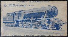 No.33 Ex WD Austerity 2-10-0 British Railway Locomotive, Turf, Carreras Ltd 1952