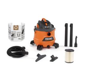 Ridgid Shop Vac Wet Dry Vacuum 14 Gal. 6.0 Peak HP NXT Large Accessories Gallon