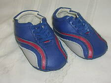 Baby Boy Shoes Junpei bumbabies Size 3 Blue Red Cream