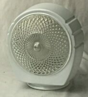 White Clear Diamond Pattern Glass Light Cover Shade Sconce Replacement Vintage