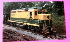 Reading Lines #5513 Gp30 Shoemakersville Pa in 1986 Train Postcard
