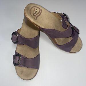 Dansko Sophie Slide Sandals Mauve Women's Size 36 - 5.5/6 Buckle Comfort