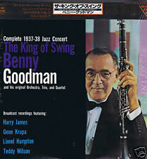 2 LP JAPAN BENNY GOODMAN KING OF SWING COMPLETE 1937 /1938 JAZZ CONCERT